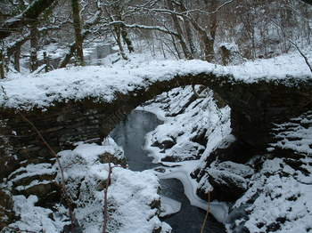 Roman Bridge near the mill at Penmachno.JPG